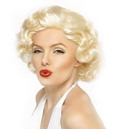 Peluca Sintética para Disfraces Personajes Talla Única Modelo Marilyn Mujer (51641)