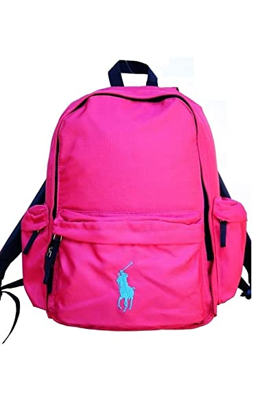 Amazon.com  Polo Ralph Lauren Kids School Backpack Gym Sports Laptop Pink   Shoes a3dda8554b314