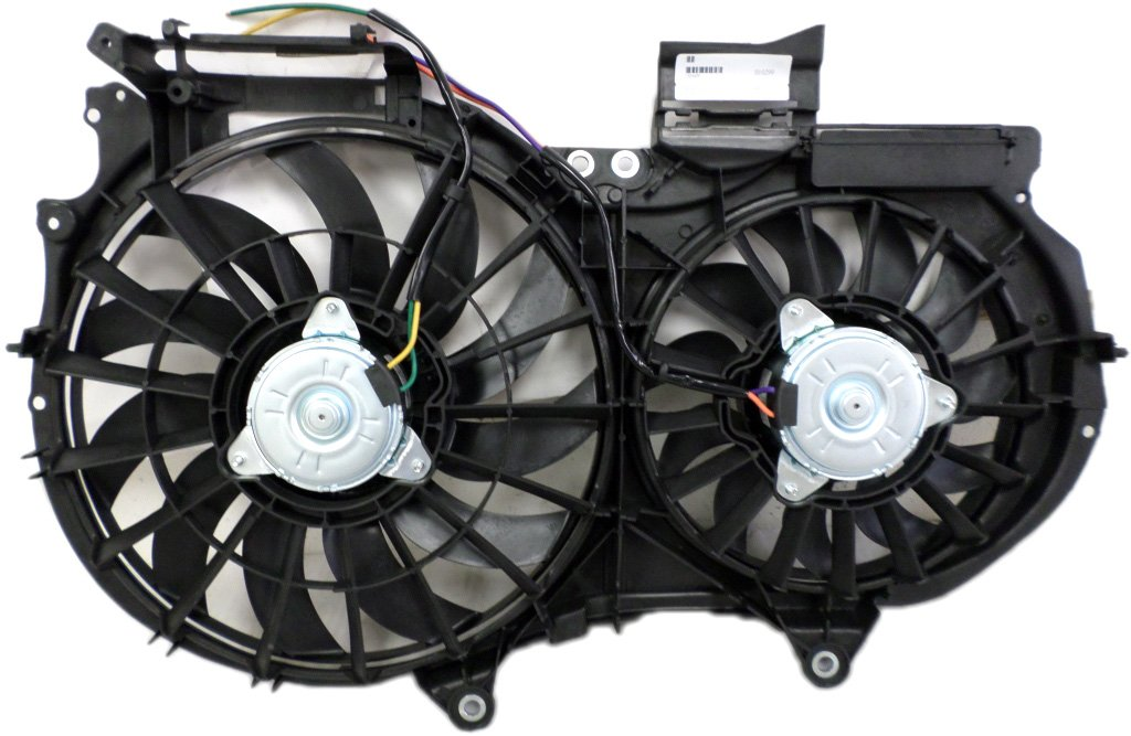 Dual Radiator and Condenser Fan Assembly - Cooling Direct For/Fit AU3115108 02-06 Audi A4/S4 3.0L 05-08 3.2L