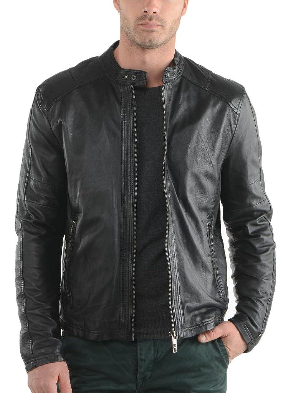 Men Leather Jacket Biker Motorcycle Coat Slim Fit Outwear Jackets AUK020
