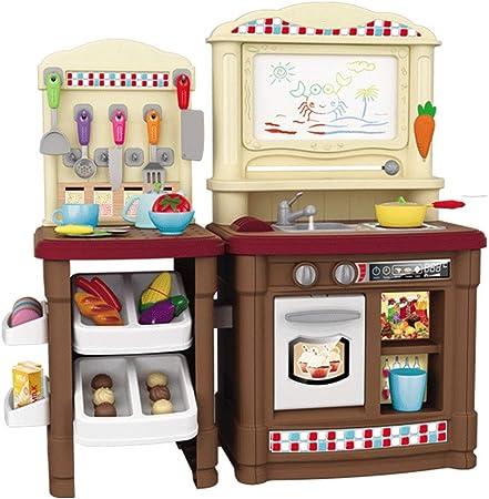 LiangDa Küche Spielzeug Große Kunststoff-Spielzeug-Küche Mit ...