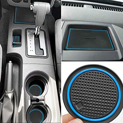 Auovo Anti Dust Mats for Nissan Frontier Crew Cab 2005-2019 Custom Fit Door Pocket Liners Cup Holder Pads Console Mats Accessories(24pcs/Set) (Blue)