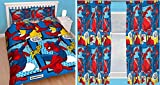 Spiderman Webhead Double Duvet Set and Matching 66'' x 72'' Curtains