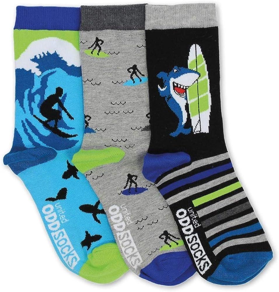 Bo/îte de 6/chaussettes d/épareill/ées pour gar/çons Oddsocks Sockasurus pointure 27 30