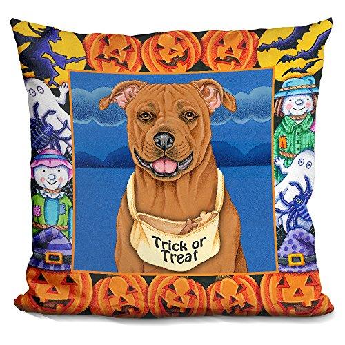 LiLiPi Halloween Pitbull Decorative Accent Throw