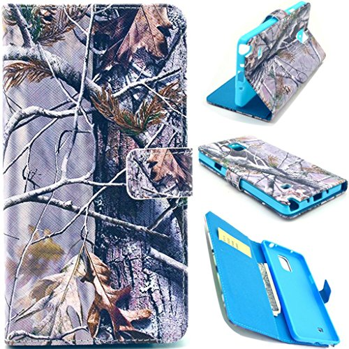 Galaxy Note 4 Case,Galaxy Note 4 Wallet Case, Galaxy Note 4 Flip Case,Love Sound [Hunting Camo Fabric Camouflage Brown Tree] [Stand Feature] Premium Wallet Case Flip Cover for Samsung Galaxy (Audio Combination Case Camo)