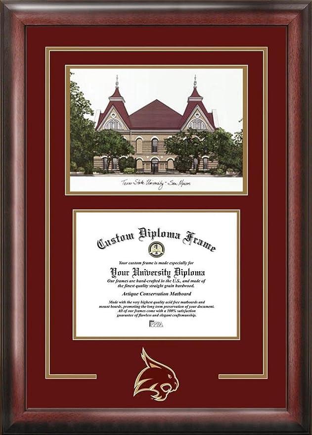Amazon.com : Texas State University Alumni Mahogany Diploma Frame ...