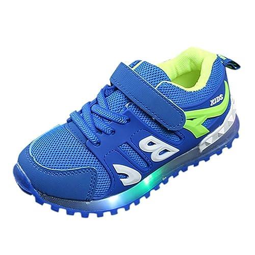 Zapatillas con Luces LED de Deporte Running para Unisex Niños Niñas Otoño 2018 Moda PAOLIAN Zapatos de Bebés Niños Calzado Breathable Deportivo de Exterior ...
