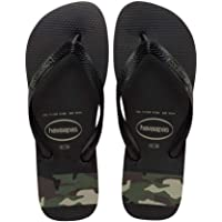 havaianas Top Stripes Logo Mens Sandals Black