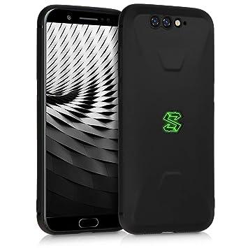 kwmobile Funda para Xiaomi Black Shark - Carcasa para móvil en [TPU Silicona] - Protector [Trasero] en [Negro Mate]