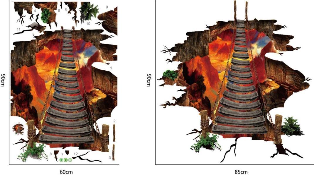 3d Vinyl Fußboden ~ Fuibo 3d flammende kunst wohnzimmer boden wandaufkleber abnehmbare