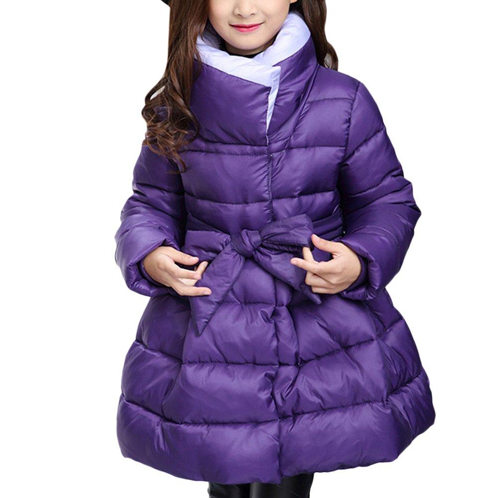 Zhuhaitf Alta qualità Winter Kids Girl Fashion Bowknot Simple Hooded Down Jacket Snowsuit Outwear