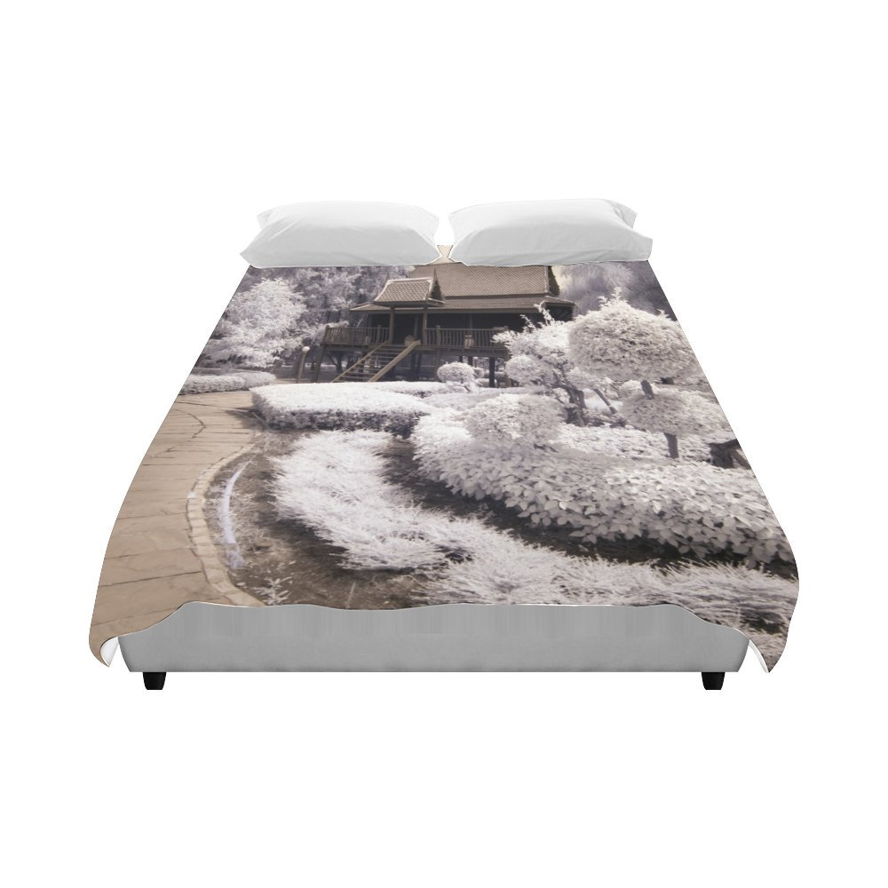 Love Nature Custom Bedding Old- Styled Thai House Fashion Duvet Cover 86'' X 70''(One Side Printed) Queen Duvet Cover, King Duvet Cover, Full Duvet Cover