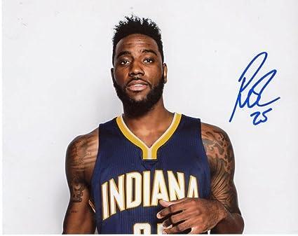 Rakeem Christmas.Rakeem Christmas Indiana Pacers Signed Autographed 8x10