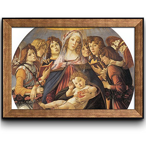 Wall26® - Madonna of the Pomegranate by Sandro Botticelli - Framed Art Prints, Home Decor - 24x36 - Botticelli Madonna
