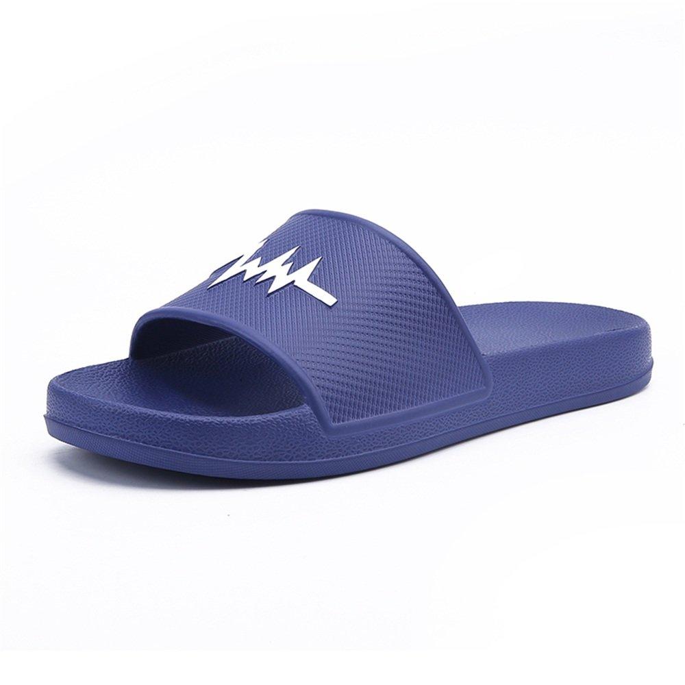 Sunny&Baby Sandalias de Interior de PVC para Hombre y Playa con Pantuflas de Playa Resistente al Desgaste (Color : Azul, Tamaño : 43EU) 43EU|Azul