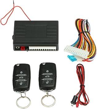 Kkmoon Universal Auto Türschloss Keyless Entry System Zentralverriegelung Fernbedienung Kit Mit 2 Klappschlüssel Kit 4 Auto