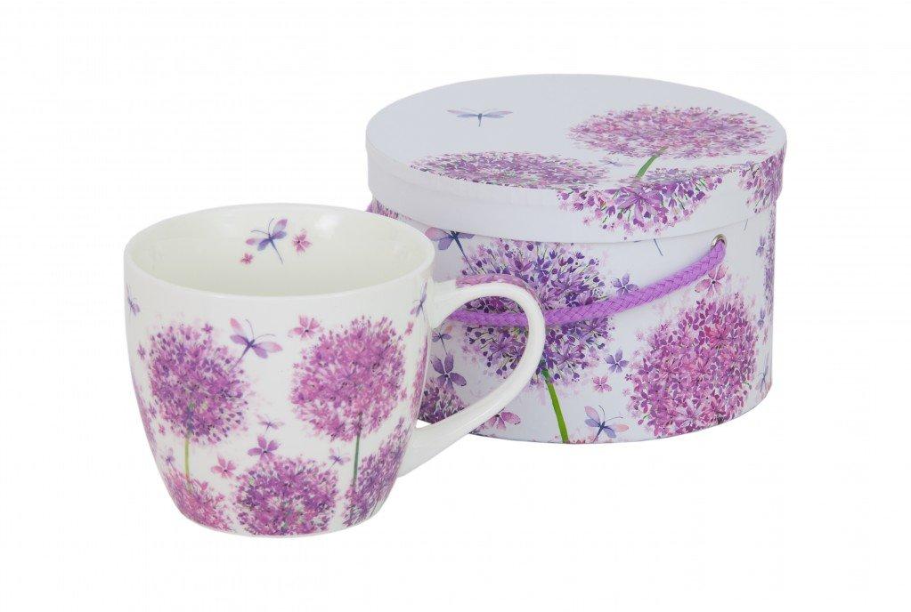 PPD Aquarell Dandelion BigMug-Vaso con Asa en Caja de Regalo, Vaso para Café, Taza de Café, Porcelana de Magnesio, Blanco / Multicolor, 400 ml, ...