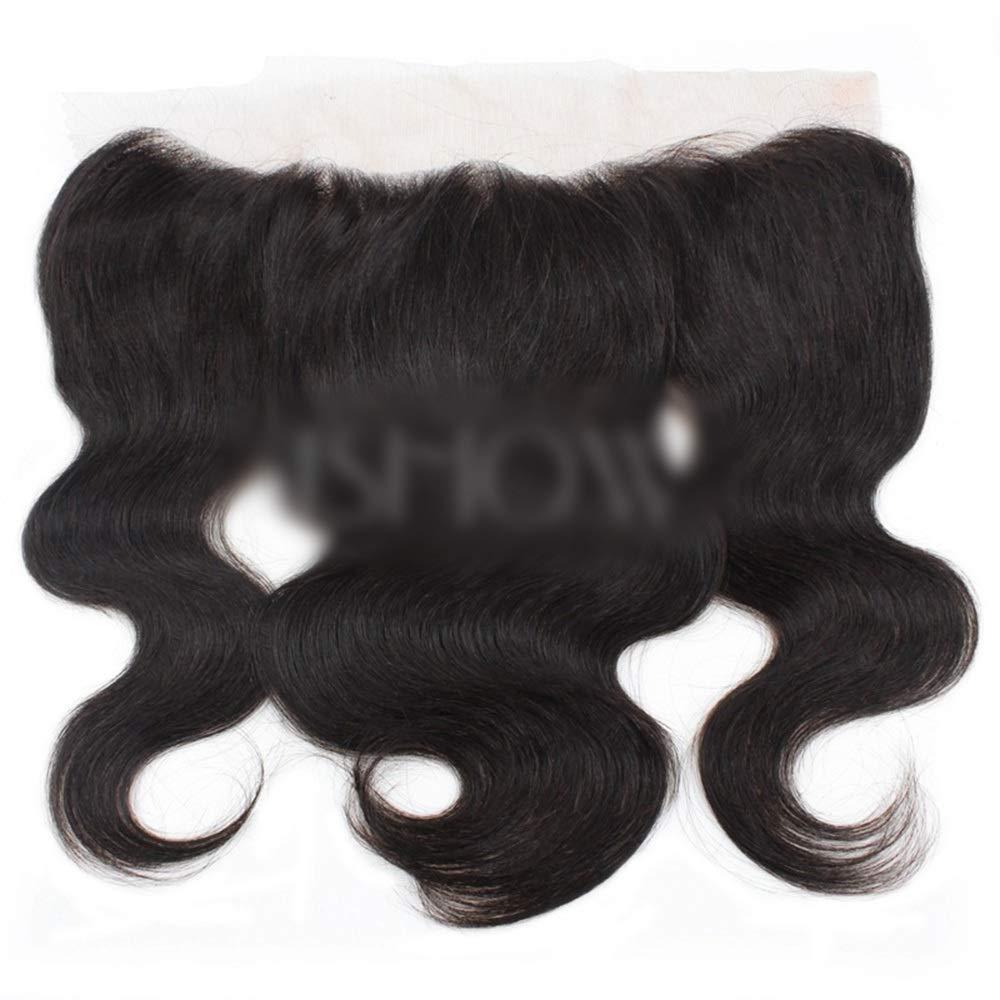 YAHONGOE フリーパート13x4インチ実体波レース前頭閉鎖9Aブラジルの人間の髪の毛の自然な色の合成髪のレースのかつらロールプレイングウィッグロングとショートの女性自然 (色 : 黒, サイズ : 12 inch) B07SMS49MG 黒 12 inch