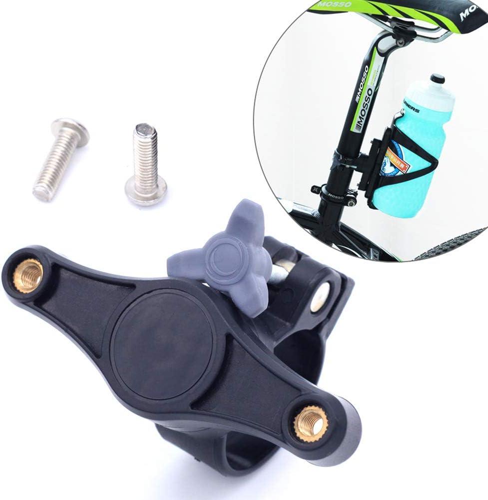 BIKERISK 2 Piezas de Hierro Carretera de montaña de Tres Viajes Asiento de conversión de Las Botellas convertidor de Bicicleta Jaula Cilindro de plástico Giratorio