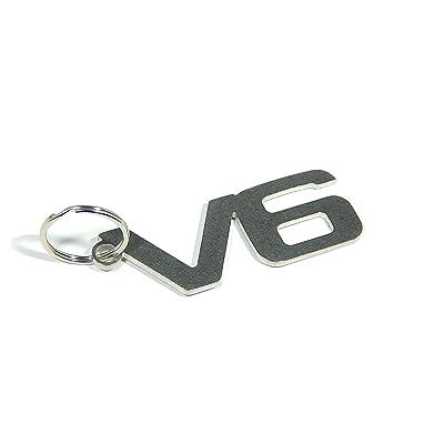 """'Porte-clés """"V6–Inox de Qualité"""