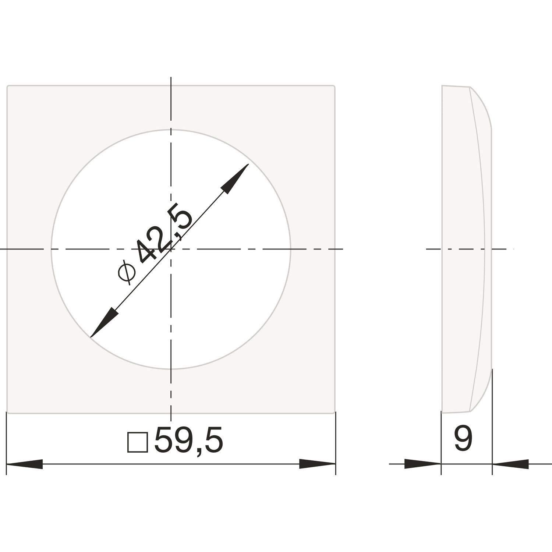 Berker Integro Flow Rahmen 1-fach anthrazit matt lose