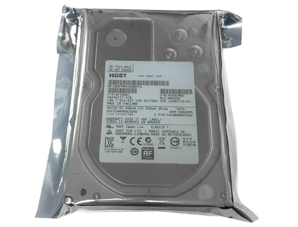 HGST Ultrastar 7K4000 (0F18567) 7200RPM SATA 6.0Gb/s 4TB 64MB Cache 3.5inch Internal Hard Drive - 3 Year Warranty (Renewed) by HGST (Image #1)