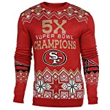 Klew NFL Football Super Bowl Commemerative Acrylic Hoody - Pick Team (San Francisco 49ers, XL)