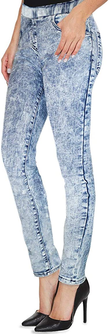 80s Jeans, Pants, Leggings H&C Women Super Stretch Skinny Pull-on Pant with Petite Regular and Long Inseam $29.99 AT vintagedancer.com