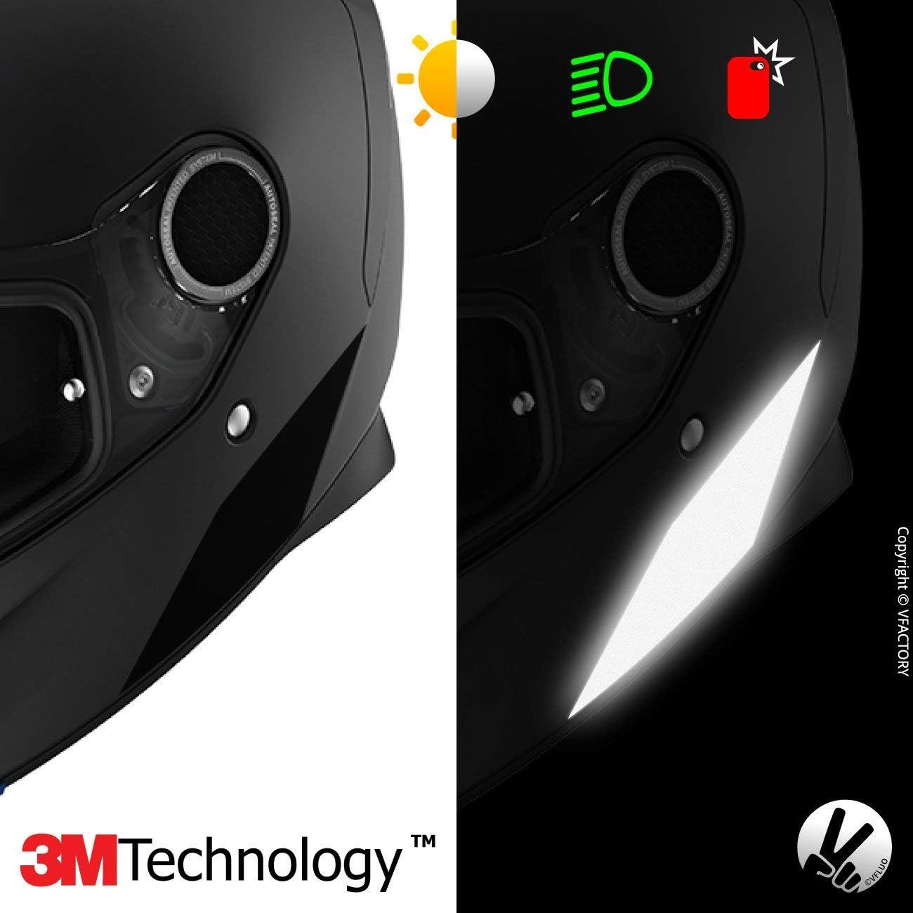 Fluoreszierend gelb Kit 4 reflektierende Aufkleber Shark Spartan/™ VFLUO Spartan/™, 2er Set 3M Technology/™ kompatibel mit Allen Motorradhelmen