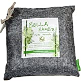 Bella Bambu Activated Bamboo Charcoal Bag - 100% Natural Air Freshener, Purifier, Deodorizer, and Odor Absorber for the home, office, car, and more. 550 grams (purifies up to 275 square feet) Gray