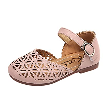 f314b3823a3f Image Unavailable. Image not available for. Color  Yalasga Girls Sandals  Summer Toddler Gladiator Sandals Flat Shoes Princess Fashion ...