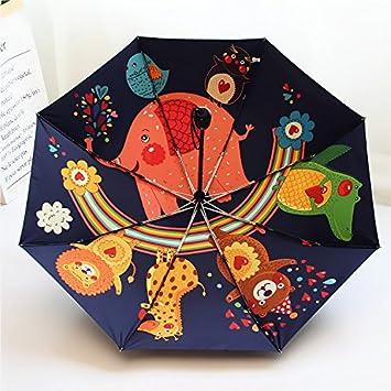 WJCGX Paraguas Animal Lindo Creativo Paraguas Plegable Automático De Dibujos Animados Paraguas Exterior Moderno Para Paraguas