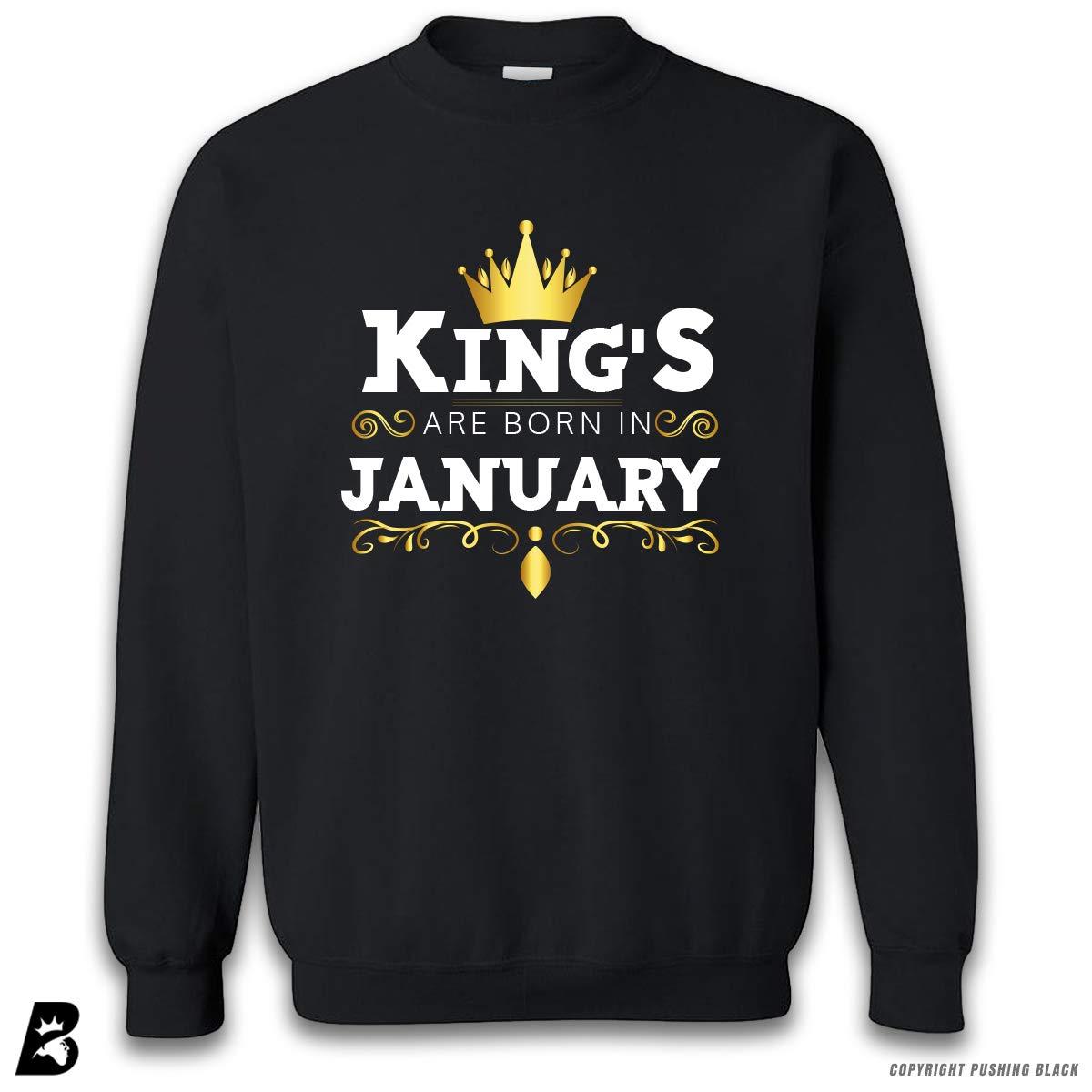 Kings are Born in January Premium Unisex Sweatshirt