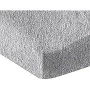 AmazonBasics Heather Jersey Fitted Crib Sheet, Light Gray