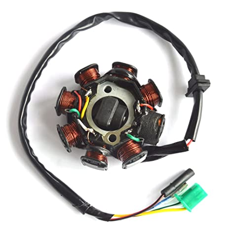 8 Pole Magneto Stator Coil GY6 125cc 150cc Chinese 150 Scooter ATV Quad Go Kart
