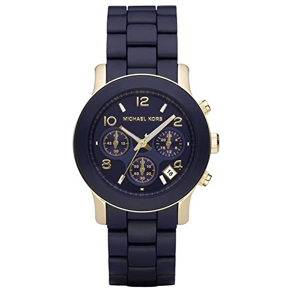 be51ed422e50 Michael Kors Women s MK5316 Navy Silicone Wrapped Runway Watch  Michael Kors   Amazon.ca  Watches