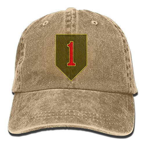 BETARIAN Army 1st Infantry Division Embroidery Low Profile Plain Baseball Hat Dad Unstructured Hat