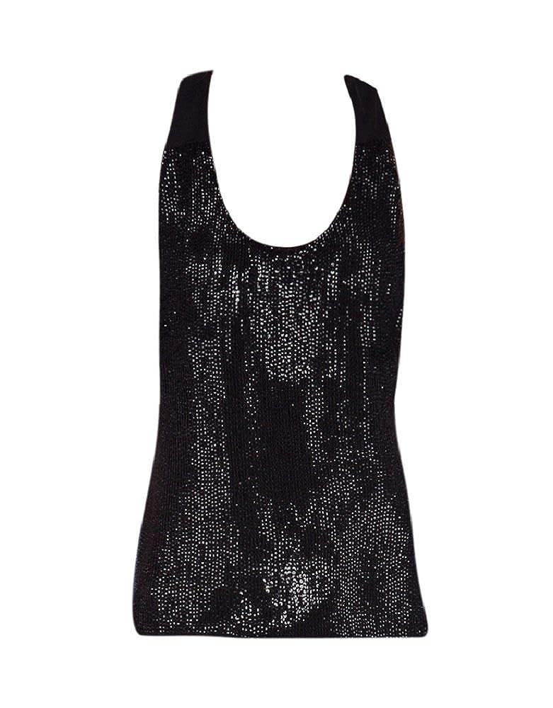 c27b0f491bc808 MLV Women s Nori Black Sequined Tank Top (XS) at Amazon Women s Clothing  store