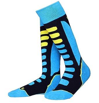 bcab57bff Amazon.com  Ski Socks Warm Breathable Thermal Socks Knee-High Stockings for teenagers  Womens Mens  Clothing