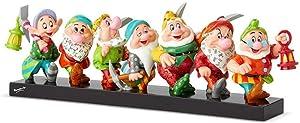"Enesco 6001300 Seven Dwarfs on Log"" from Disney by Britto Line Figurine, 5.71 Inches, Multicolor"