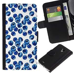 For Samsung Galaxy S4 Mini i9190 MINI VERSION!,S-type® Nature Porcelain White Blue - Dibujo PU billetera de cuero Funda Case Caso de la piel de la bolsa protectora