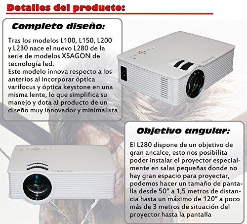 proyector Mod L280 con Android, WiFi, HDMI, USB,SD, AC3, 2 años de garantía: Amazon.es: Electrónica