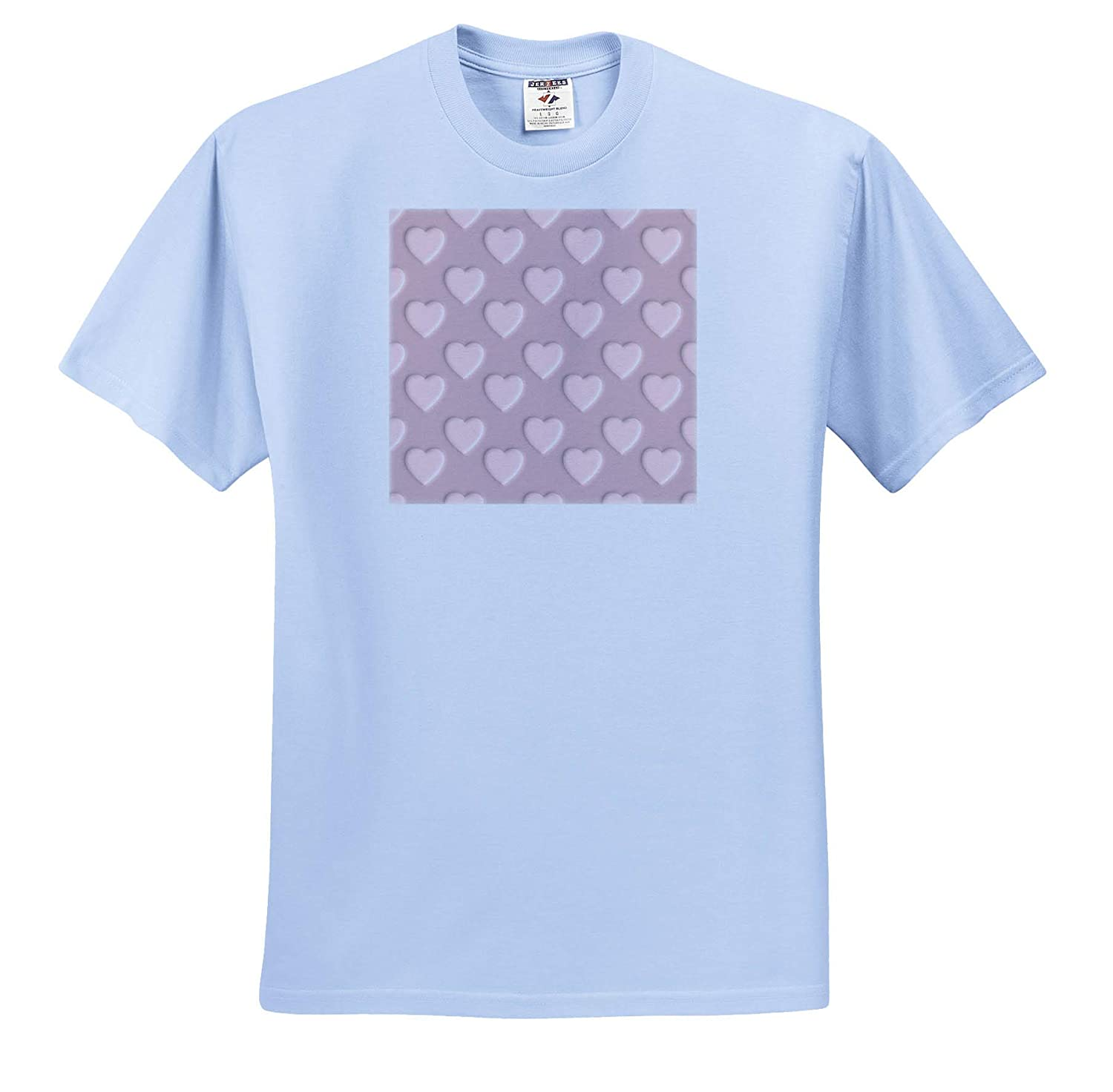 ts/_311213 Image of Pierced Hearts Pattern in Damask Pink- not Embossed 3dRose Russ Billington Patterns Adult T-Shirt XL