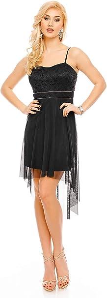 Tüll kleid kurz schwarz