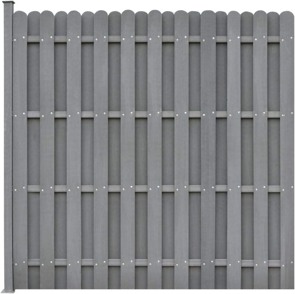 Vidaxl Wpc Zaun 180x180cm Grau Windschutz Sichtschutz Lamellenzaun