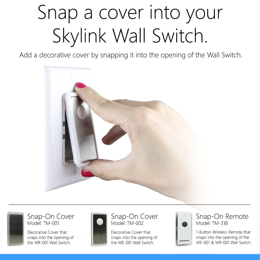 SkylinkHome WR-001 Dimmable Wall Switch Lighting Control In-Wall ...