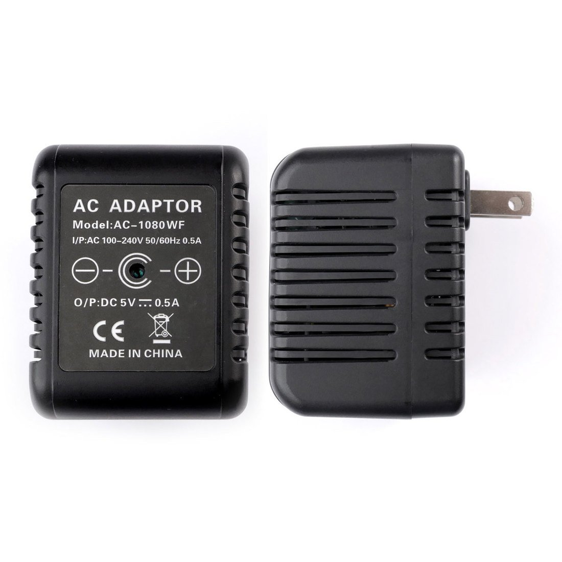 RecorderGear AC50 HD 1080P Hidden Camera AC Adapter / Motion Activated / 60FPS / Remote Control / Loop Recording / Covert Security Spy Nanny Cam