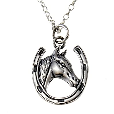 A19 Running Horse PENDENT REAL 925 sterling silver Necklace Handmade 18 inch chain with prideindetails gift box CQci9
