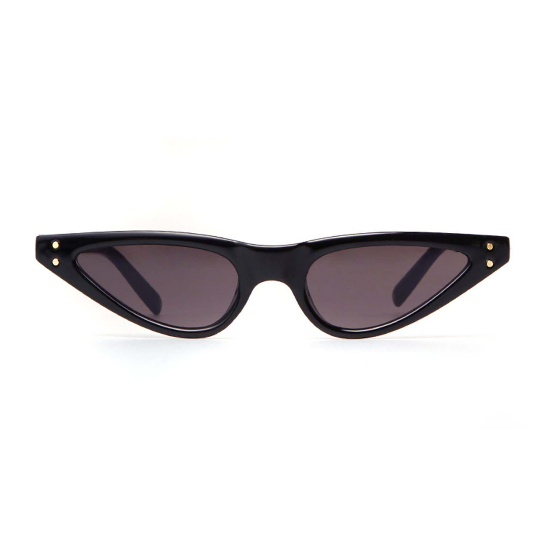 Vintage Retro Cat Eye Sunglasses For Women Small Glasses with Rivet